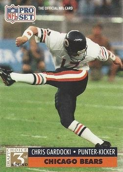 1991 Pro Set #807 Chris Gardocki Chicago Bears RC