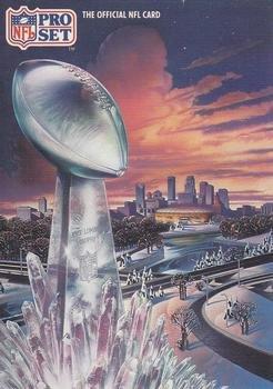 1991 Pro Set #SC1 Super Bowl XXVI Art Card