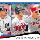 2014 Topps #103 AVG Leaders Cabrera Mauer Trout