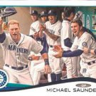 2014 Topps #224 Michael Saunders Seattle Mariners