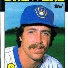 1986 Topps #292 Chuck Porter Milwaukee Brewers