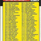 1986 Topps #791 Checklist