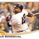 2013 Topps #456 Pablo Sandoval San Francisco Giants