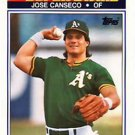 1990 K-Mart Superstars #21 Jose Canseco Oakland A's