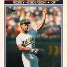1990 K-Mart Superstars #23 Rickey Henderson Oakland A's