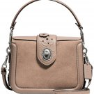 COACH PAGE CROSSBODY LEATHER PAINTED TEA ROSE TOOLING FLORAL SATCHEL BROWN SHOULDER CROSSBODY 12588