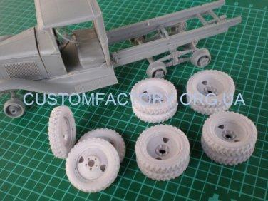 "1/35 Customfactory  Wheels for models of GAZ-AAA (model I-11, late type, ""tree"")"