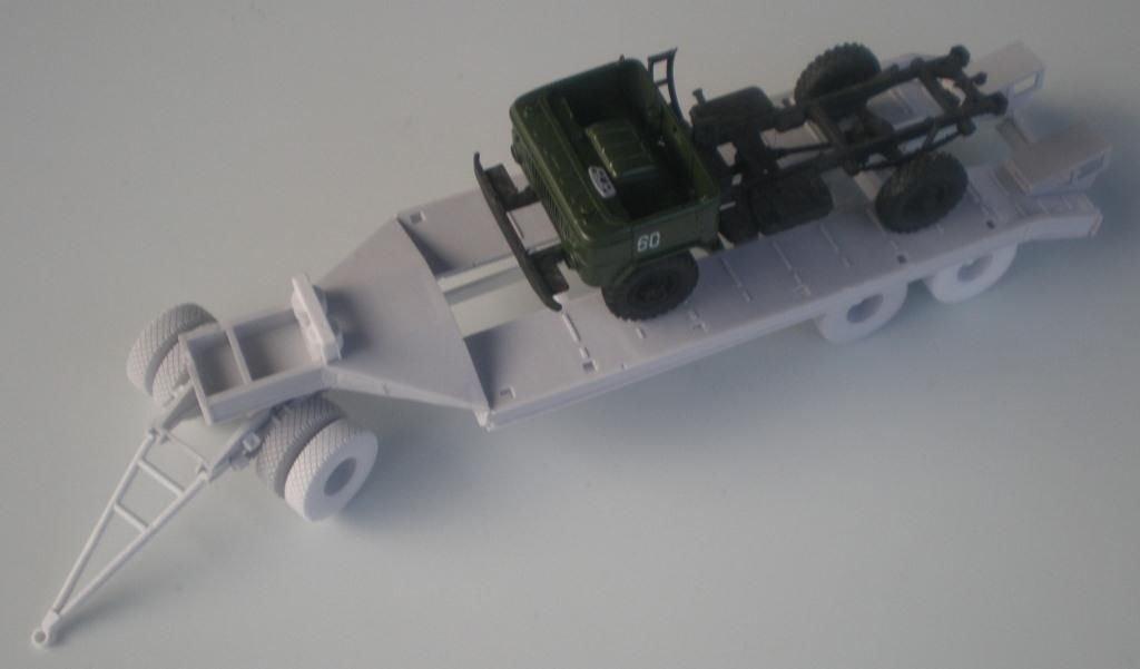 1/35 Customfactory Heavy trailer MAZ-5203 with dolly