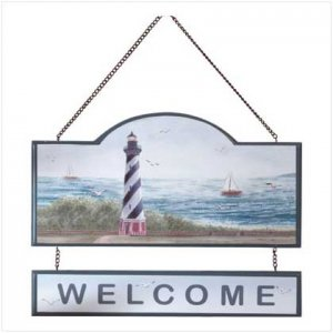 """Lighthouse """"Welcome"""" Sign - 35329"""
