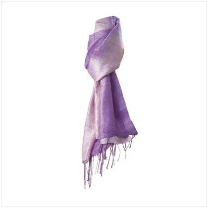 New Lavender Silk Scarf - 35767