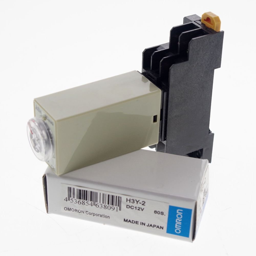 12V 2.0-60S H3Y-2 Power On Time Delay Relay Solid-State Timer DPDT 8Pins&Socket