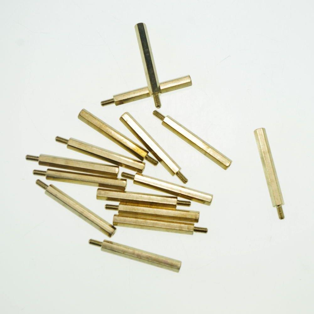 (10) M5�30+7mm  Hexagonal Threaded Brass Spacers Hexagon Copper Post