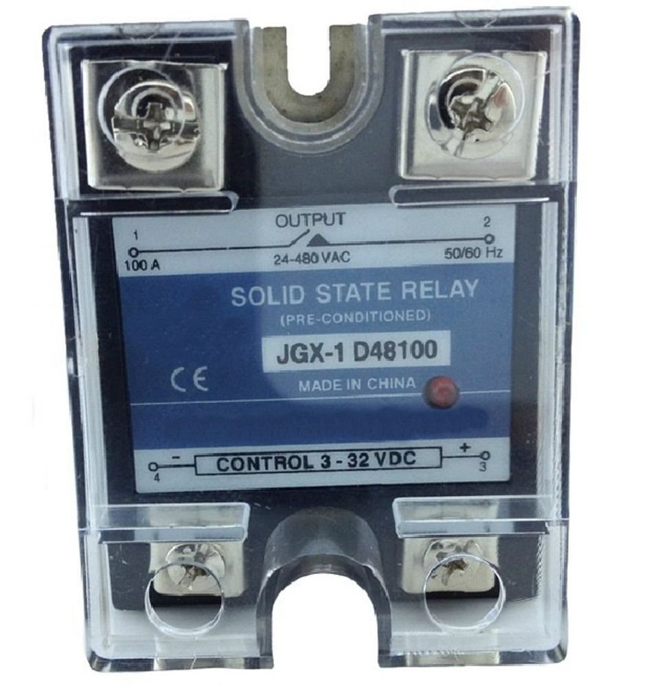 JGX-1 D48100 Single Phase Adjustable Solid State Module Relay 100A AC 24-480V