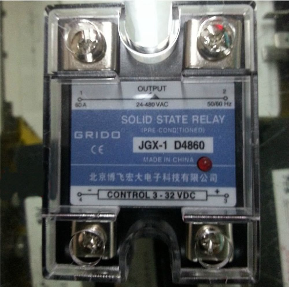 JGX-1 D4860 Single Phase Adjustable Solid State Module Relay 60A AC 24-480V