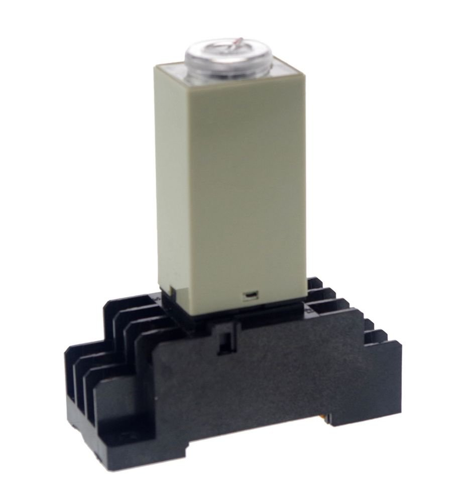 2.0~60S 12V H3Y-4 Power On Time Delay Relay Solid-State Timer,4PDT,14Pins&Socket