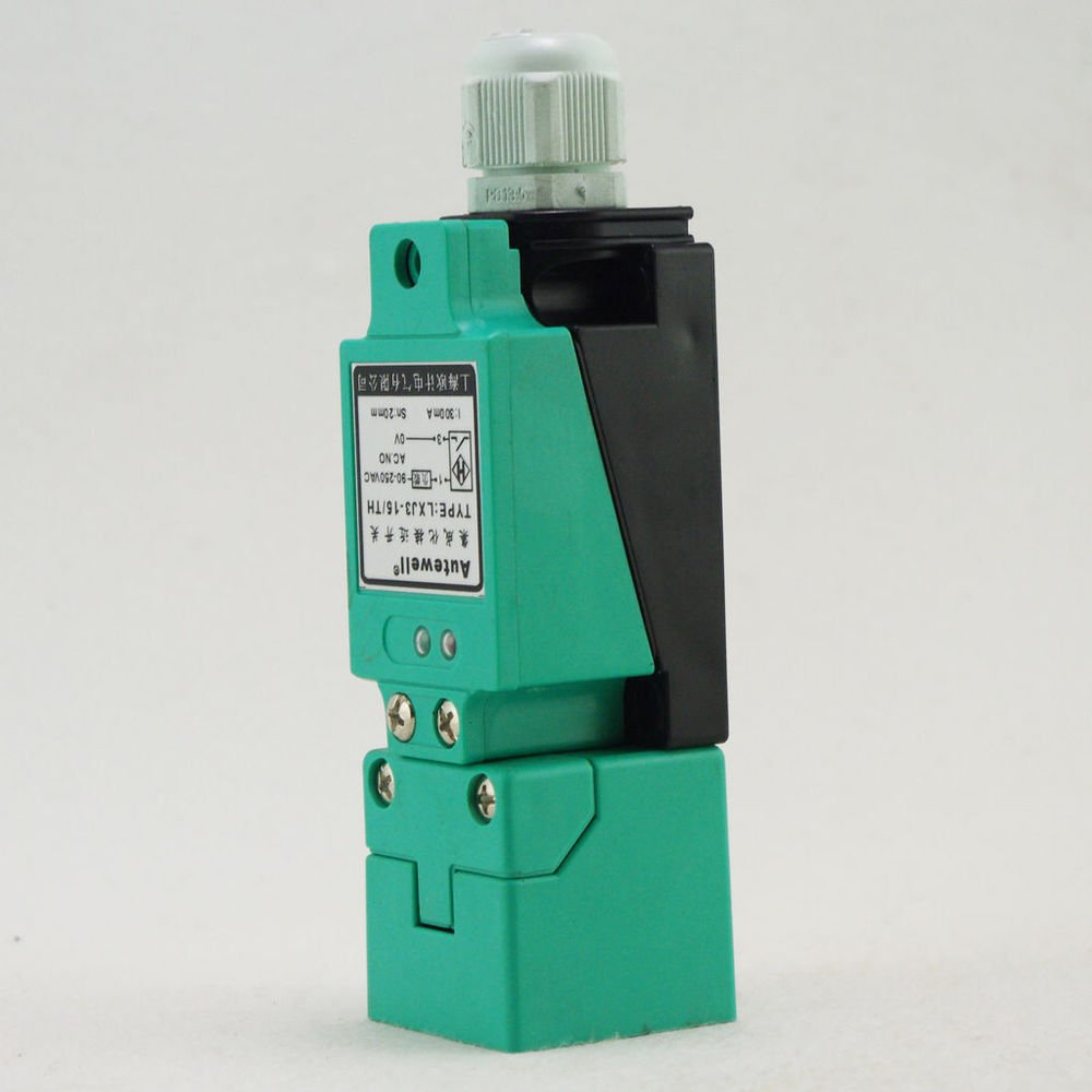 AC90-250V 2-Wire LXJ3-15/TH Inductive Proximity Switch Sensor 45*45*1mm(Rail)