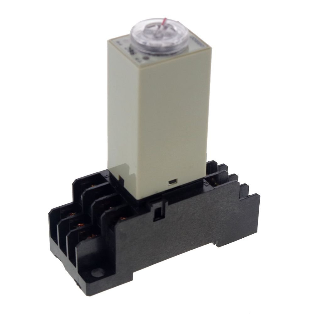 2.0~60S 24VDC H3Y-4 Power On Time Delay Relay Solid-State,4PDT,14 Pins & Socket