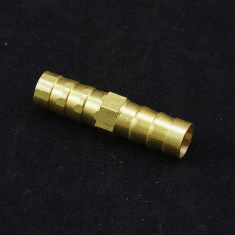 10pcs Tube ID 10mm Brass Hose Barb Staight Coupler Adapter