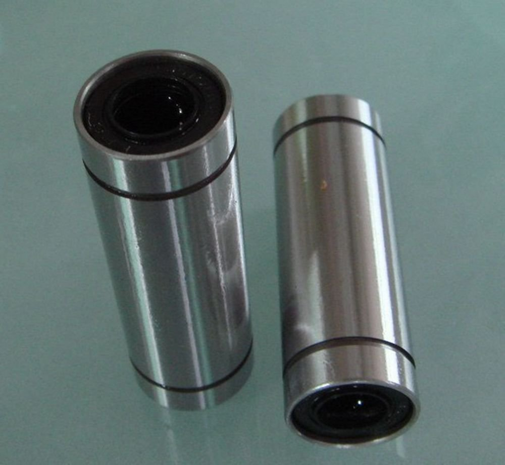 (2)LM 8LUU  8*15*45mm Round Long Type CNC Linear Motion Metal Shield Bearing