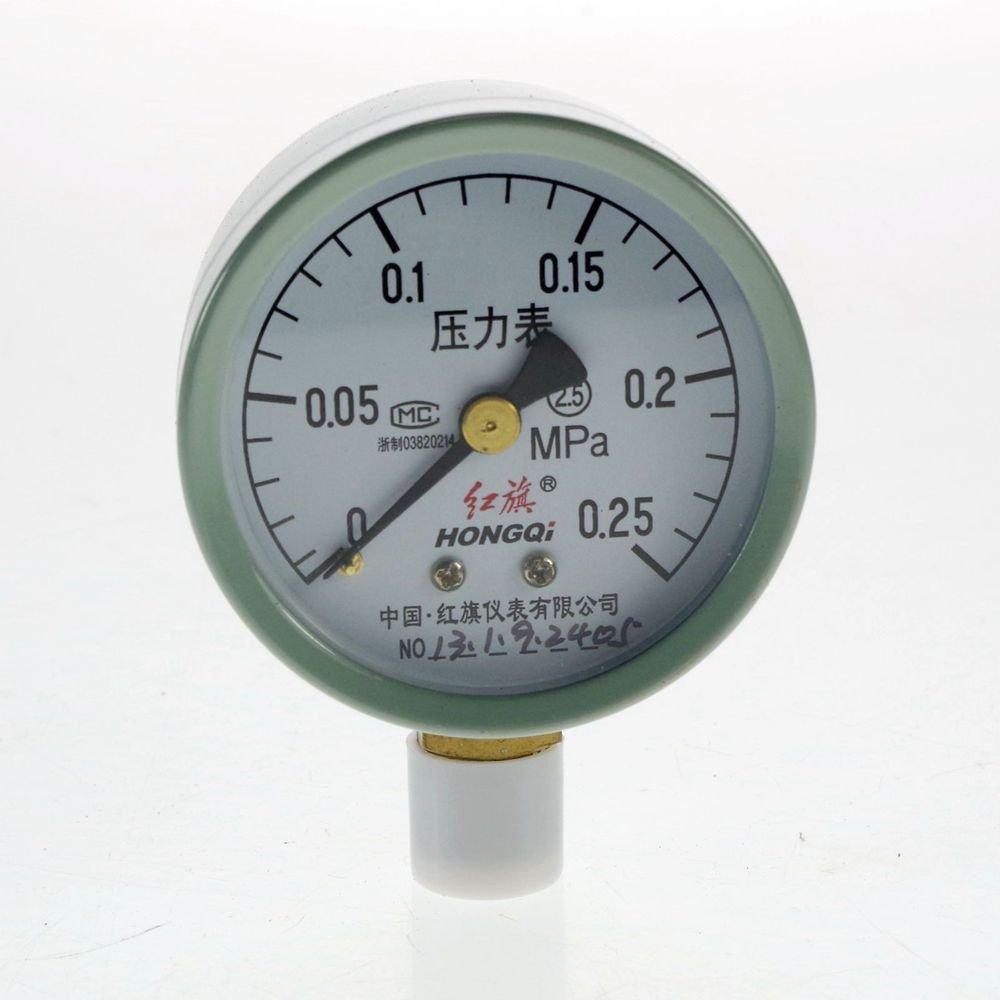 (1)0-0.25MPA Water Oil Hydraulic Air Pressure Gauge Universal Gauge M14*1.5