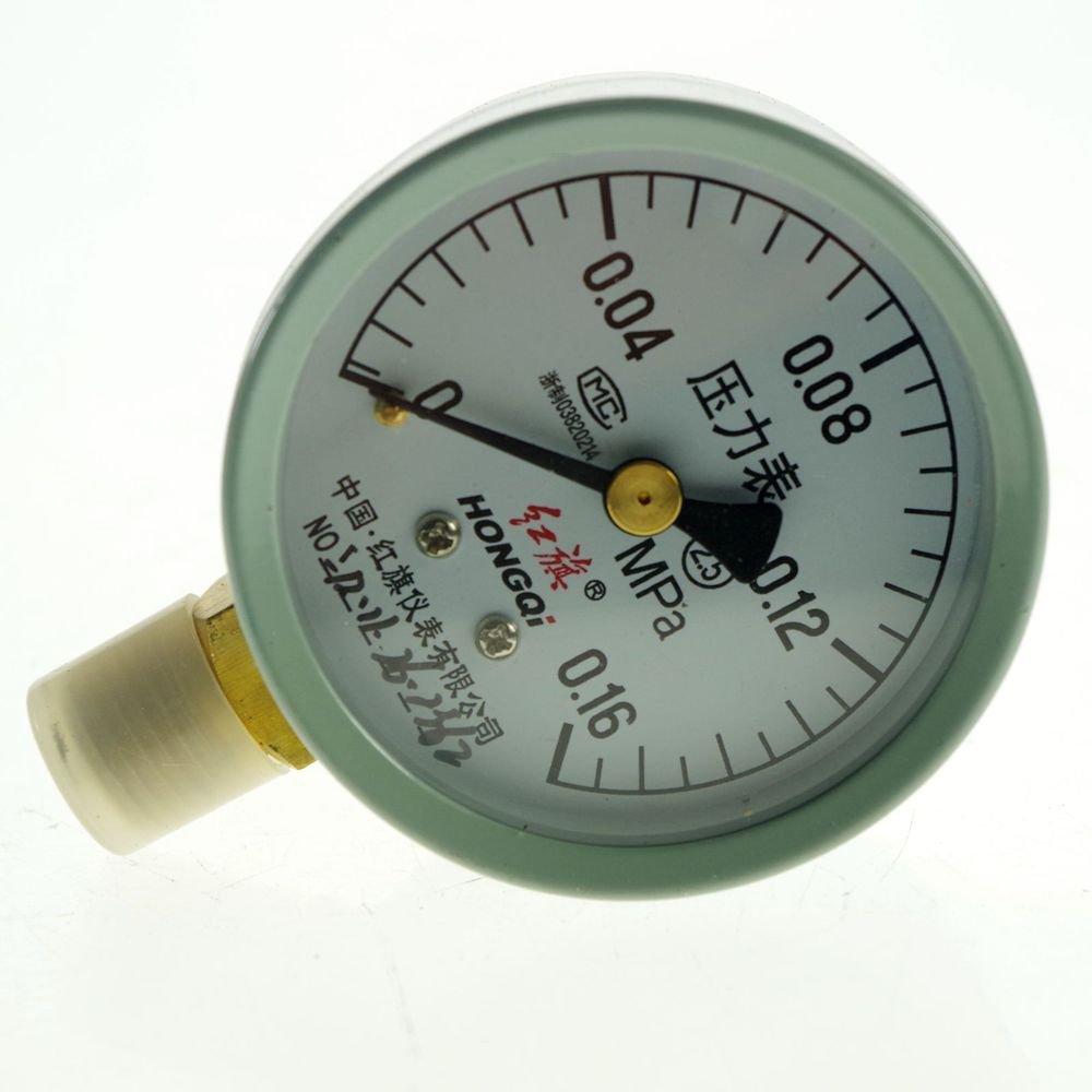 Water Oil Hydraulic Air Pressure Gauge Universal Gauge M14*1.5 60mm Dia 0.16Mpa