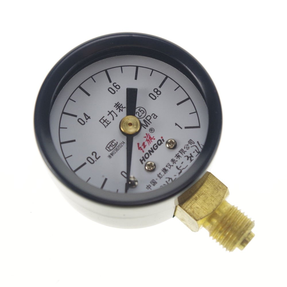 0-1Mpa Water Oil Hydraulic Air Pressure Gauge Universal Gauge M10*1  40mm Dia