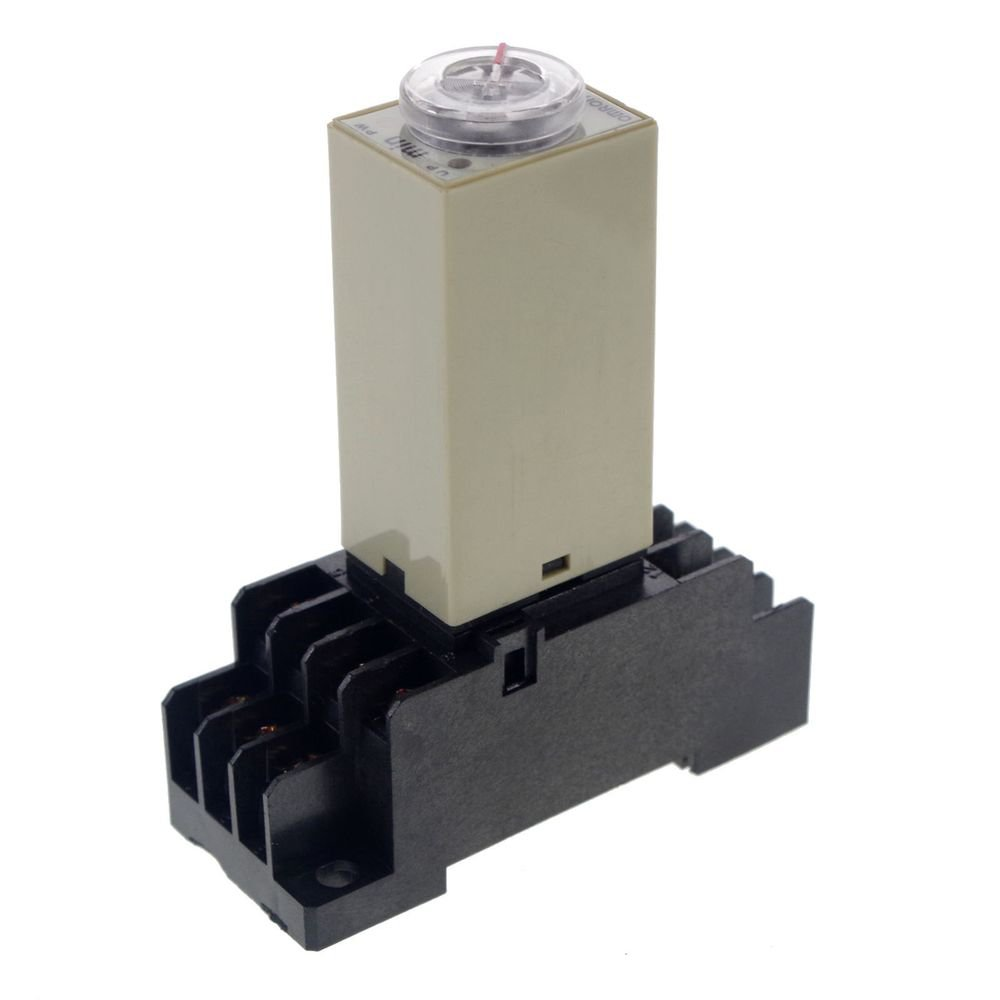 1~30Min 24VAC H3Y-4 Power On Time Delay Relay Solid-State,4PDT,14 Pins & Socket