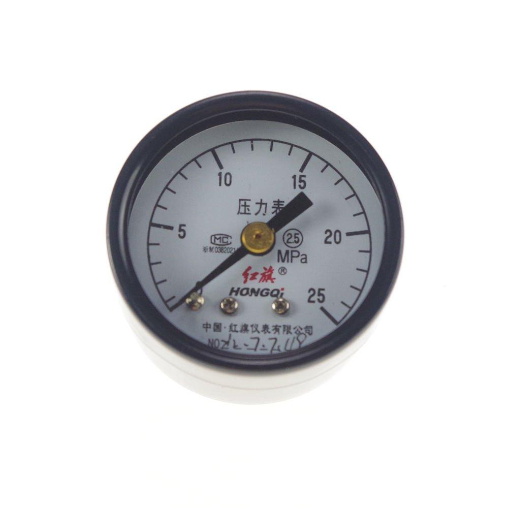 Water Oil Hydraulic Air Pressure Gauge Universal Gauge M10*1 40mm Dia 0-25Mpa