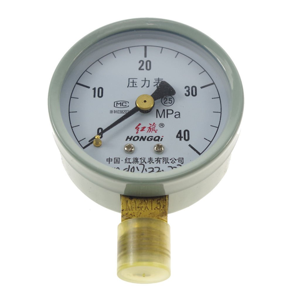 Water Oil Hydraulic Air Pressure Gauge Universal Gauge M14*1.5  60mm Dia 0-40Mpa