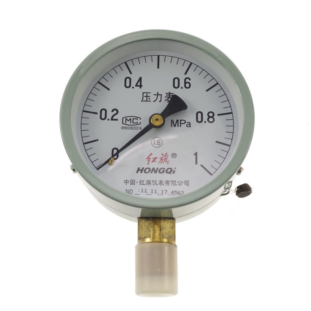 "Water Oil Hydraulic Air Pressure Gauge M20*1.5 with 1/2"" BSPP Adapter 0-1Mpa"