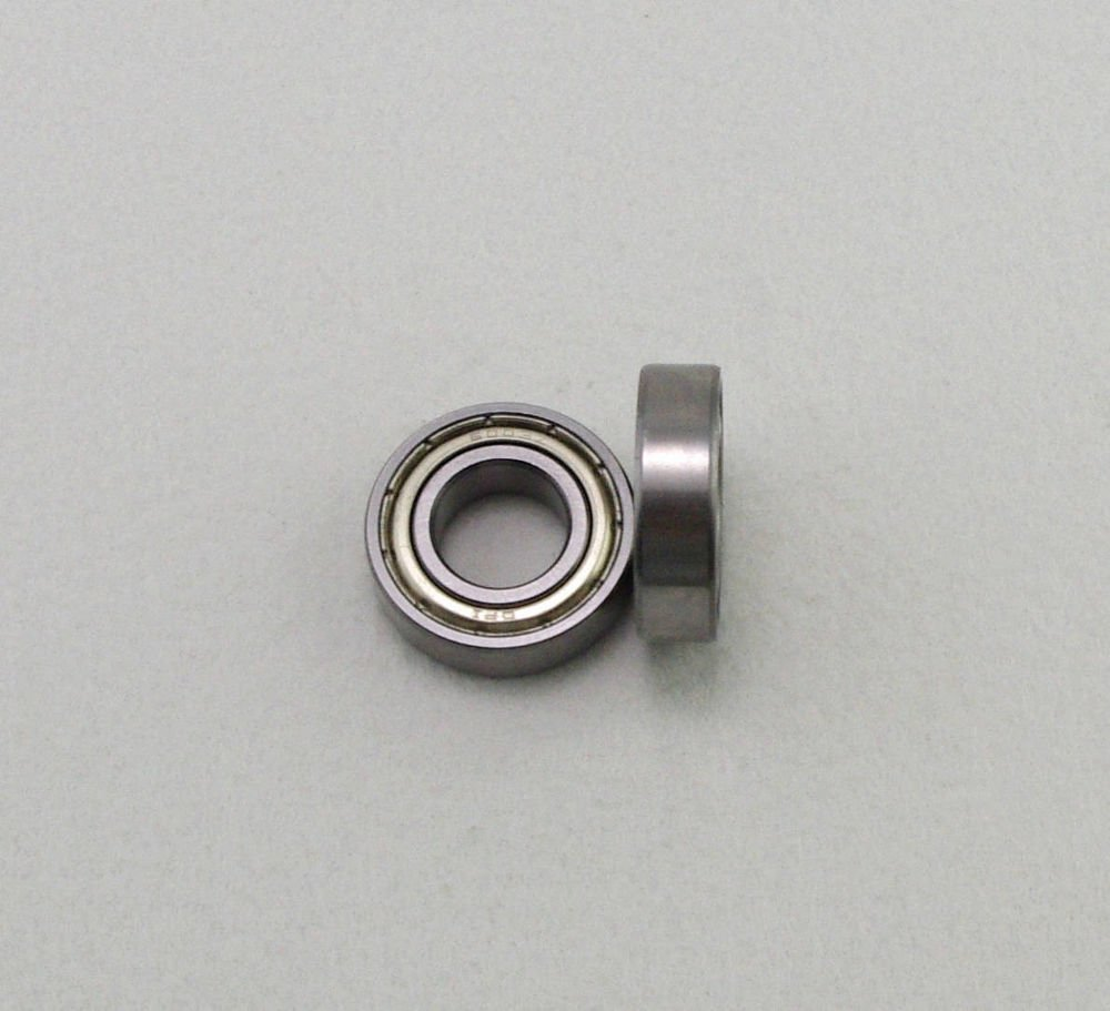 "(10) 1/8"" x 1/4"" x 7/64"" Shielded Micro Ball Model Radial Bearing R144ZZ"