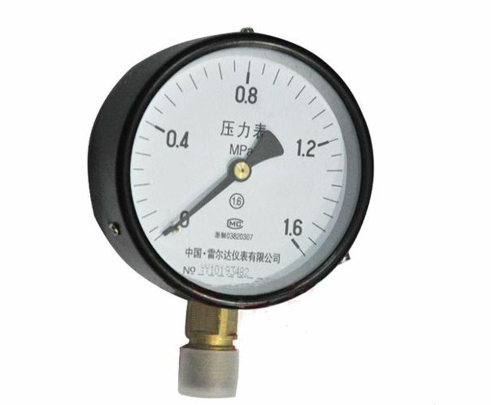 Water Oil Hydraulic Air Pressure Gauge Universal GaugeM20*1.5 100mm Dia 0-1.6Mpa