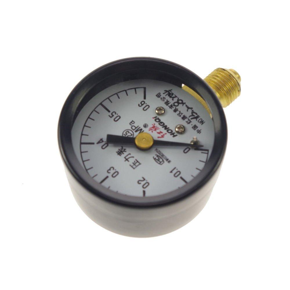 Water Oil Hydraulic Air Pressure Gauge Universal Gauge M10*1  40mm Dia 0-0.6Mpa