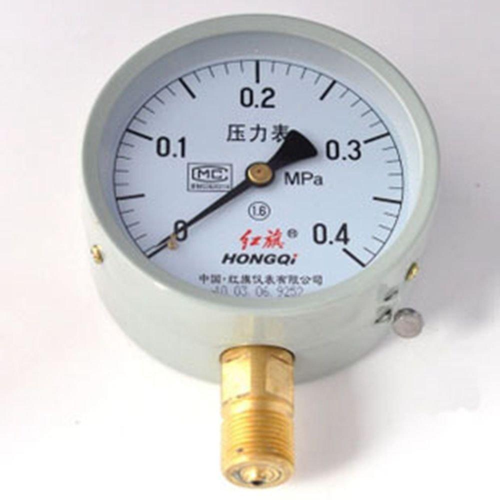 Water Oil Hydraulic Air Pressure Gauge Universal GaugeM20*1.5 100mm Dia 0-0.4Mpa