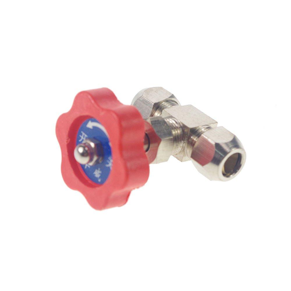 Tube OD 8mm Nickel-Plated Brass Swagelok Plug Needle Valve