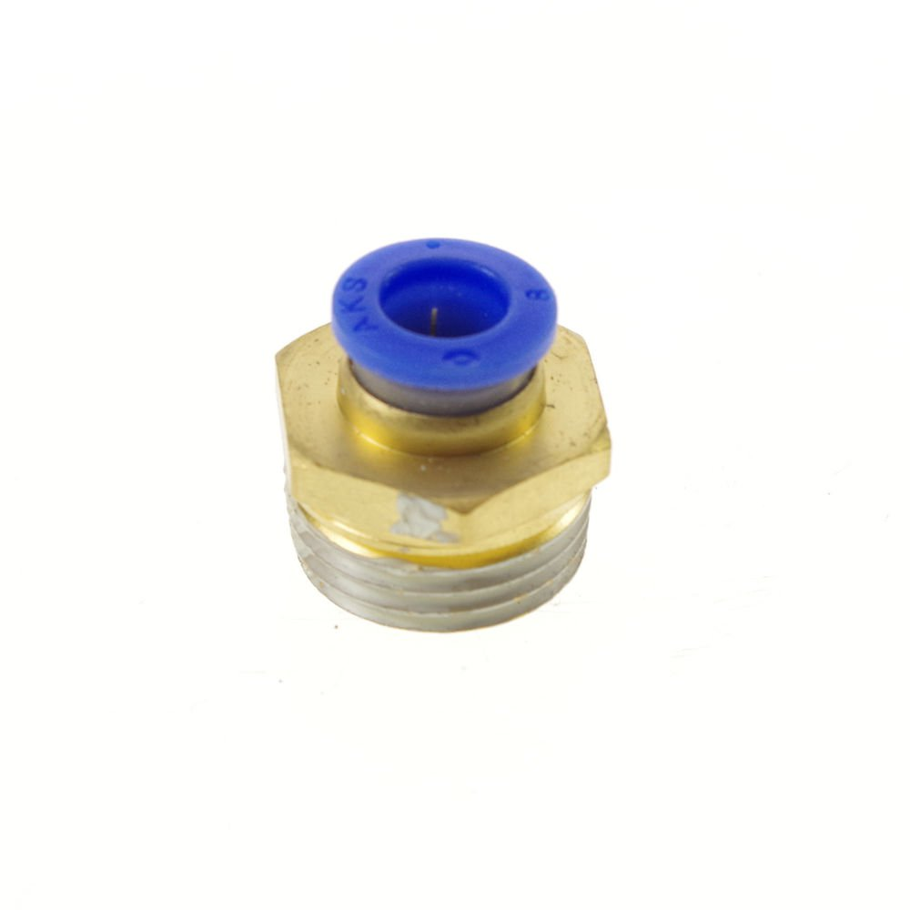 """(10) Pneumatic Tube OD  8mm x 1/2"""" BSPT Threaded Male Connectors Fitting"""