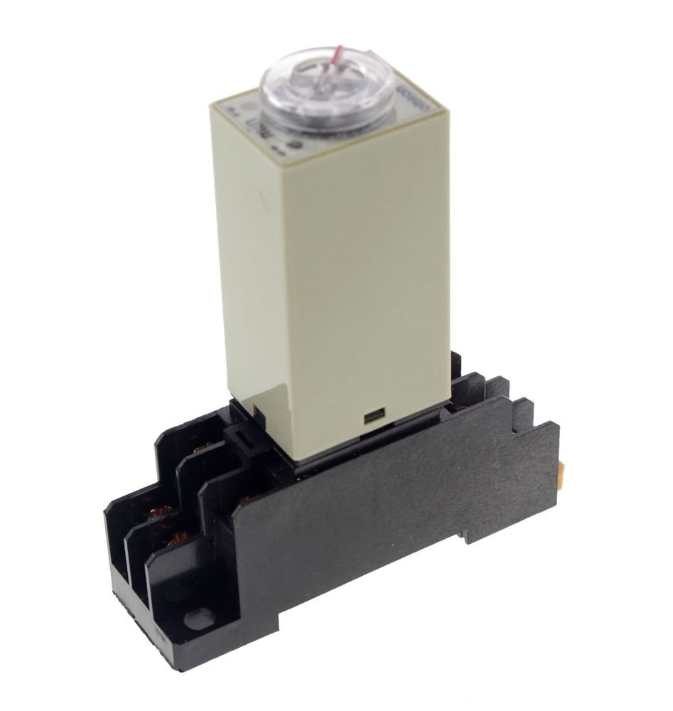 10M 3A 110VAC H3Y-2 Power On 3A Time Delay Relay Solid-State DPDT Socket