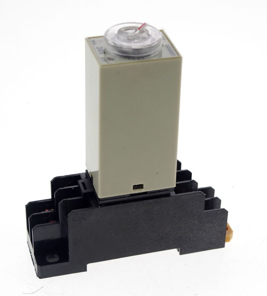 30s 24VDC H3Y-2 Power On 3A Time Delay Relay Solid-State DPDT With Socket Base