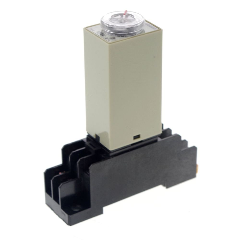 10 MINUTE 12VDC H3Y-2 Power On 3A Time Delay Relay Solid-State DPDT With Socket