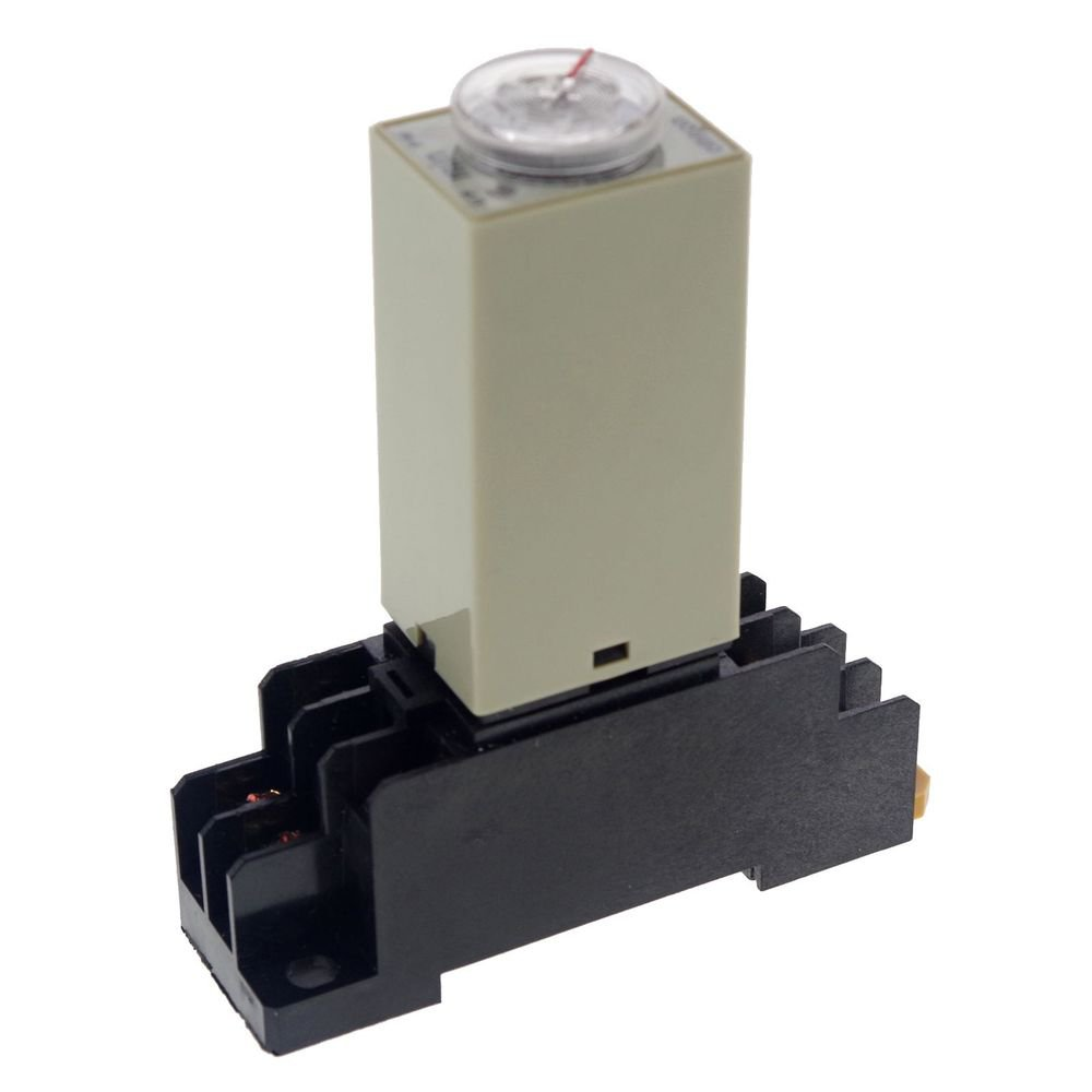 5 MINUTE 110VAC H3Y-2 Power On Time Delay Relay Solid-State DPDT 8Pins & Socket