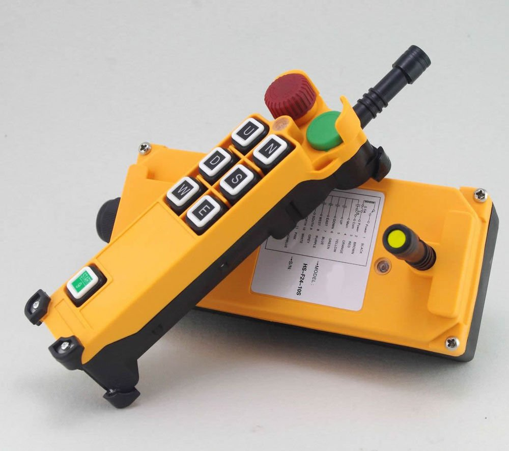 1 Speed 3 Motion Hoist Crane Truck Radio Remote Control System with E-Stop