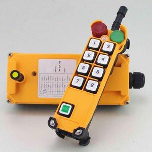 12V 4 Motion 1 Speed Hoist Crane Truck Radio Remote Controller System  E-Stop