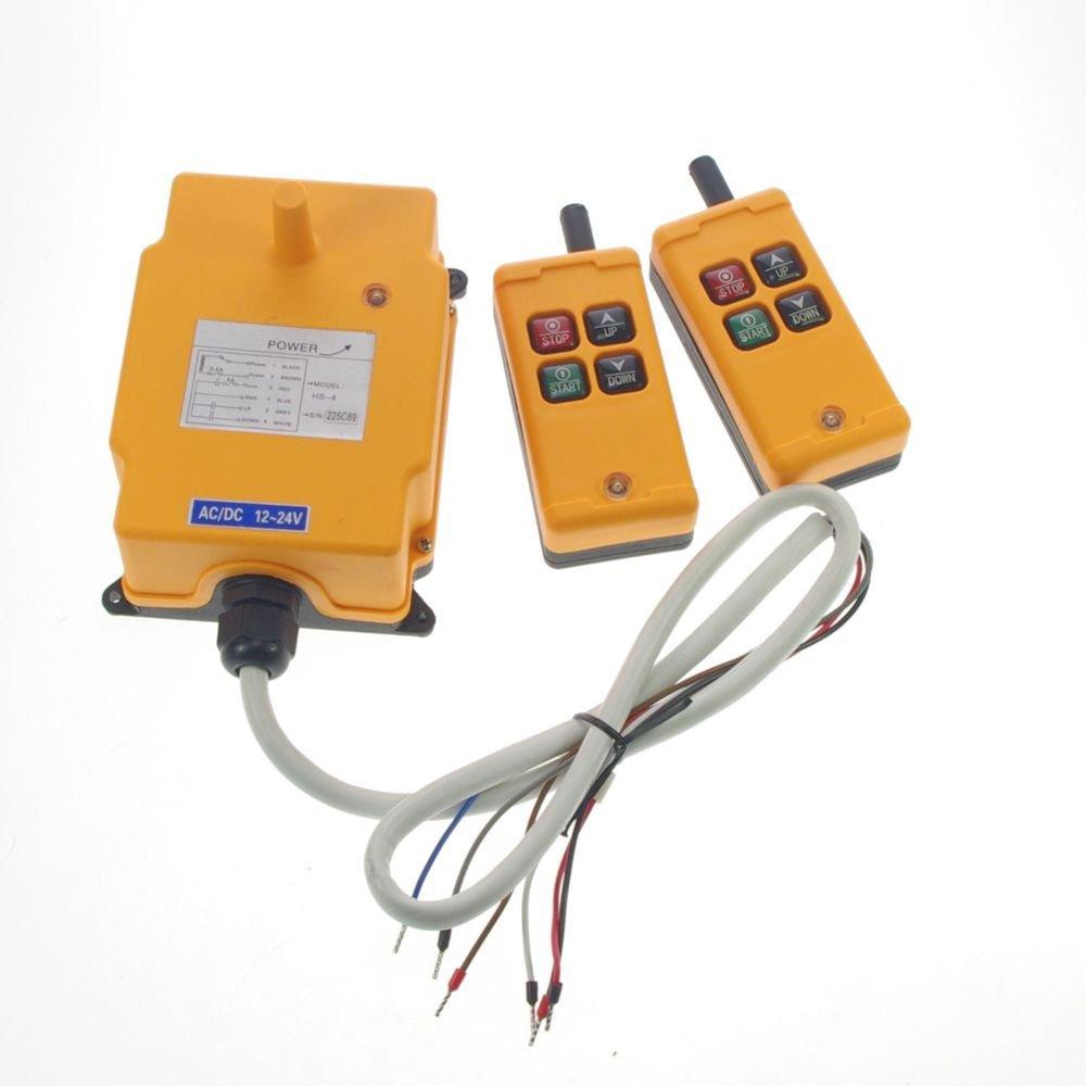 1 Motion 1 Speed Hoist Crane Truck Remote Control System IP65 24V AC/DC