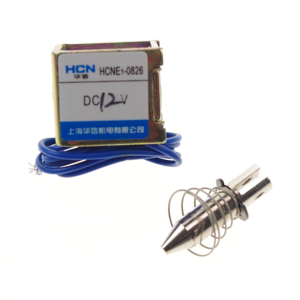 12V 1Kg Pull Hold/Release 3-5mm Stroke Force Electromagnet Solenoid Actuator