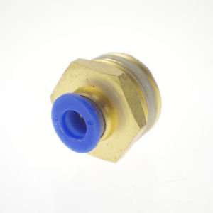 """LOT5One Touch Push In Brass Tube Straight Union Connector Male BSPT 1/2"""" to 10mm"""