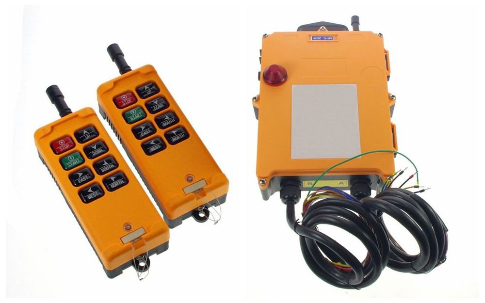 3 Motions 2 Speed 2 Transmitters Hoist Crane Remote Control System Controller