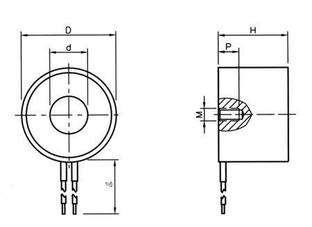 24V 90kg 198LB 80mm Holding Electromagnet Lift  Solenoid