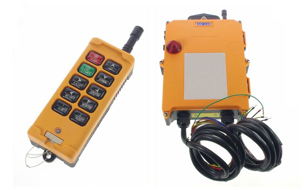 12VDC 4 Motions 2 Speed Hoist Crane Truck Radio Remote Control System Controller