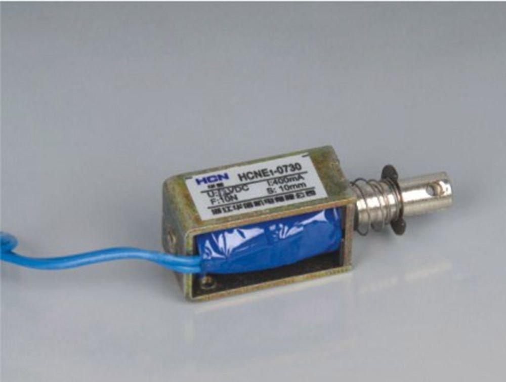 24V 0.7Kg Pull Hold/Release 10mm Stroke  Force Electromagnet Solenoid Actuator