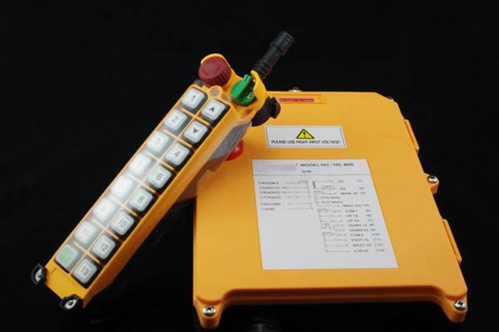 16 Channels Single Speed Hoist Crane Radio Remote Controller System With E-Stop